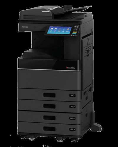 cho thuê máy in Toshiba e-Studio 2508A khổ A3 được thiết kế vững chắc, bền bỉ, tương tác với người dùng qua màn hình điều khiển cảm ứng màu 9 Inch giúp người dùng thao tác dễ dàng, thuận tiện.