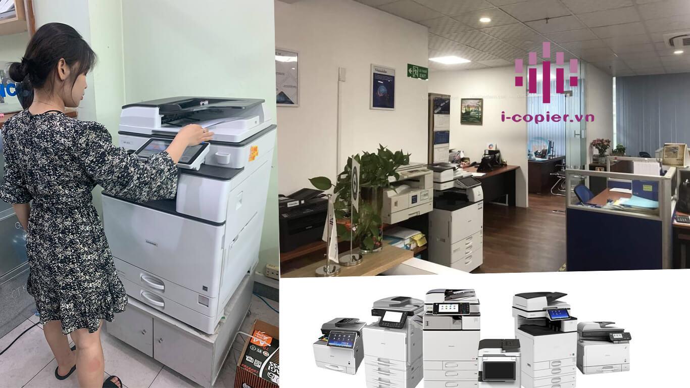 Việc thuê máy photocopy là một phương án tối ưu nhất cho các doanh nghiệp có thể giảm thiểu chi phí đầu tư. Mà đổi lại có thể đảm bảo hoạt động một cách tối đa hiệu quả. Tuy nhiên để đạt được kết quả như mong muốn thì doanh nghiệp cần phải lựa chọn một trong các loại máy photo phù hợp với chất lượng tốt và sử dụng phổ biến. Và ngay dưới đây là danh sách các hãng máy photocopy phù hợp nhất hiện nay. Máy cho thuê là máy đầy đủ tính năng hiện đại như In mạng, Scan trắng đen hoặc scan màu, Fax, Tự động nạp bản gốc (ARDF), tự động đảo hai mặt ( Duplex).