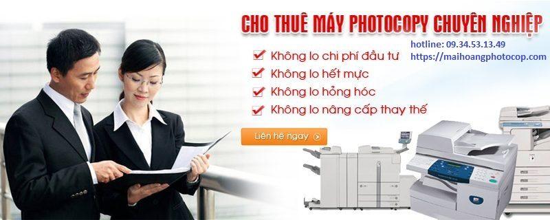 Cho thuê máy photocopy giá rẻ tại hóc môn