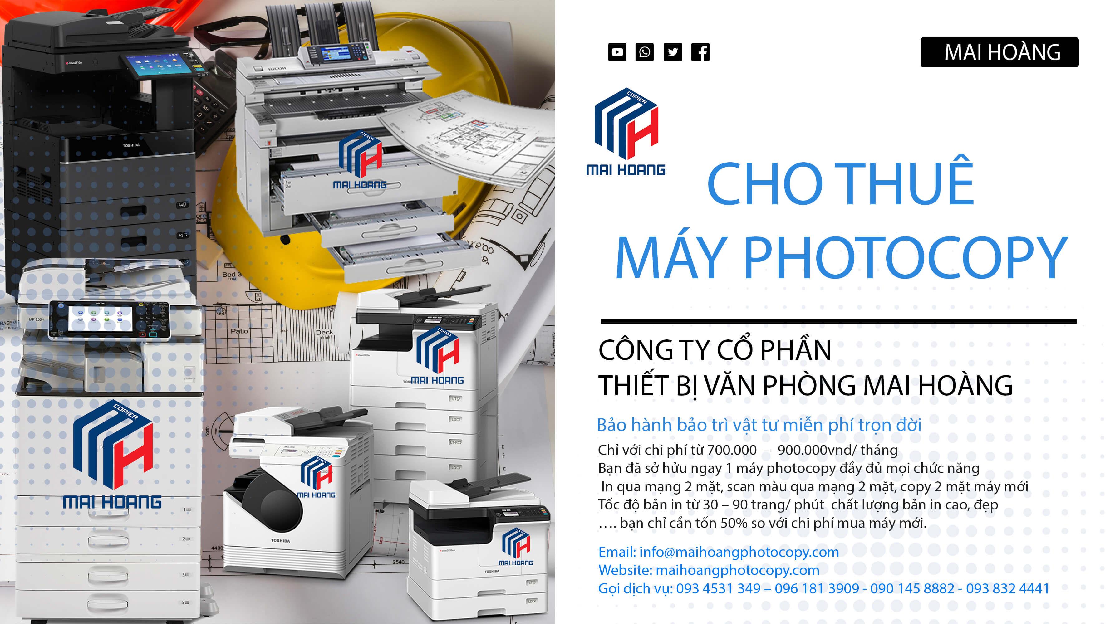 dịch vụ cho thuê máy photo