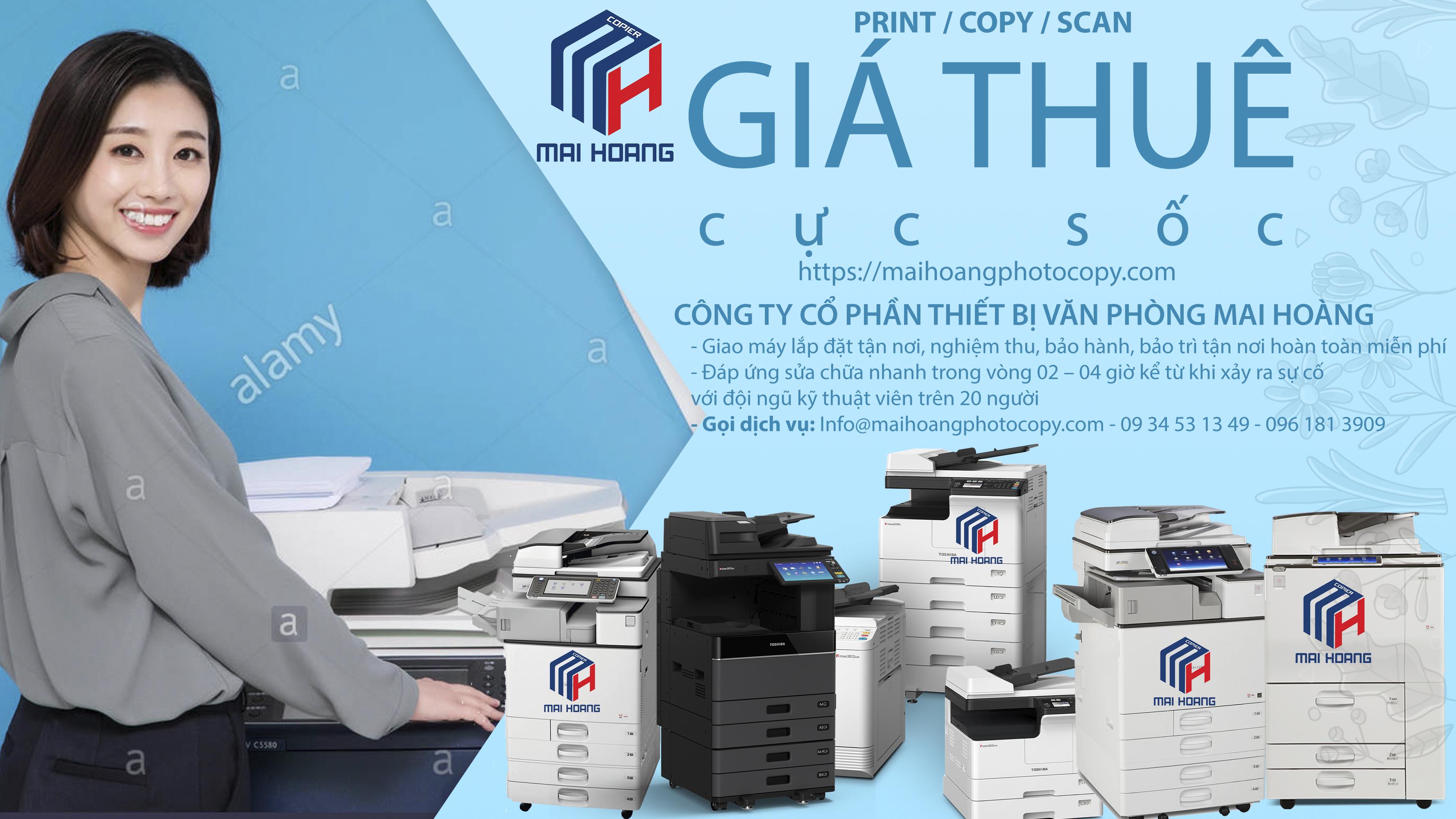 dịch vụ cho thuê máy photocopy tại quận tân phú
