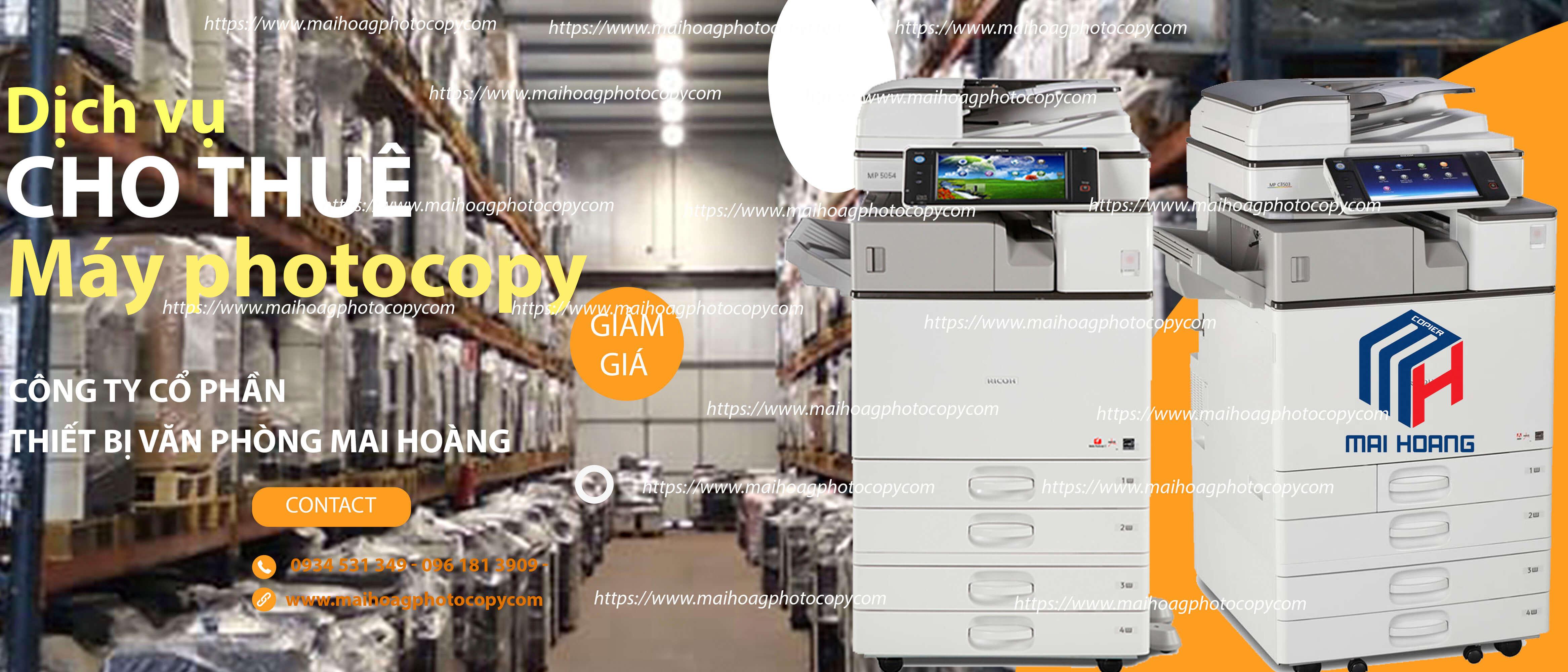 Giá Cho Thuê Máy Photocopy Ricoh Aficio MP 5055SP