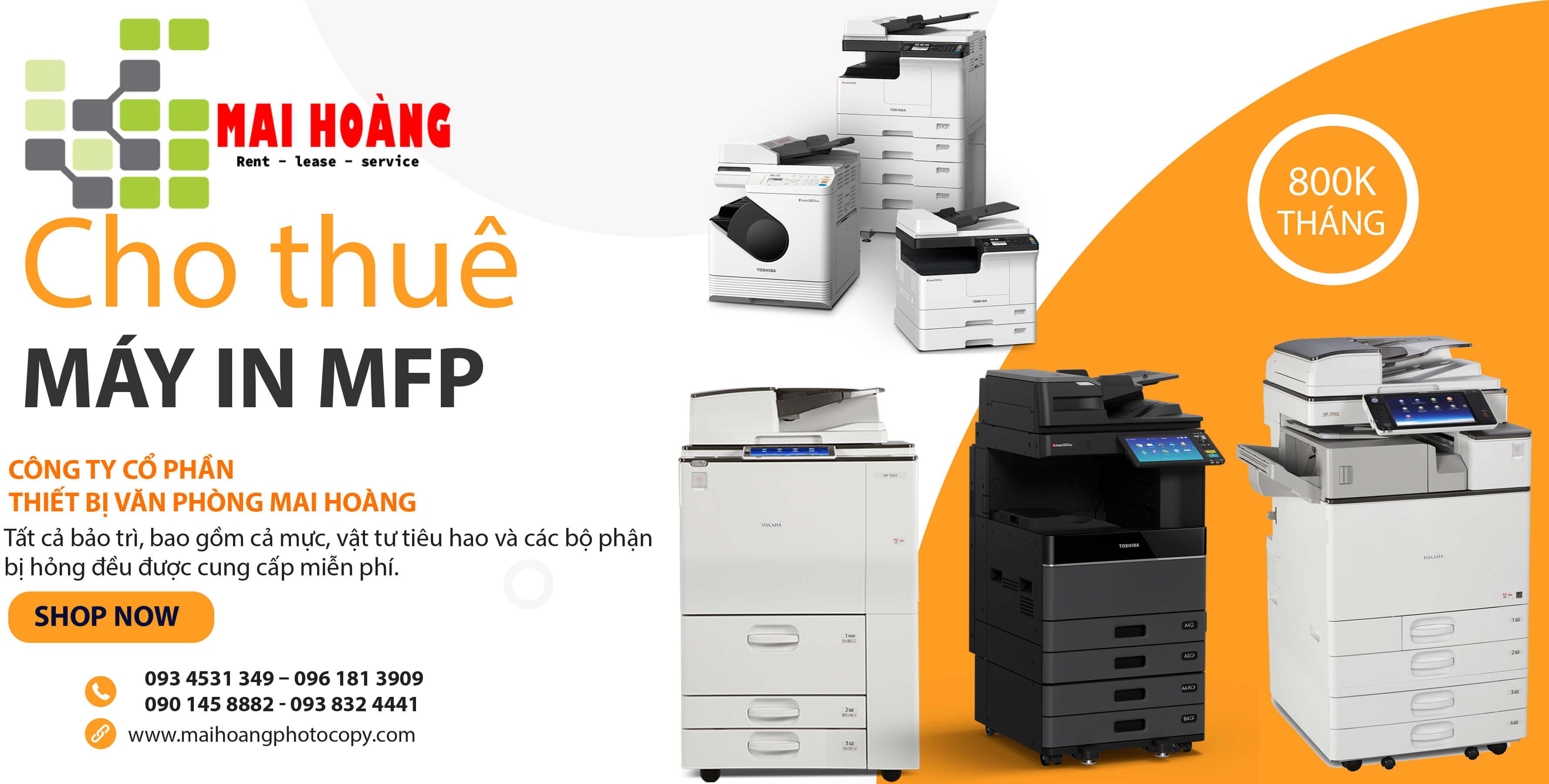 Bảng giá dịch vụ cho thuê máy photocopy Ricoh Aficio MP 4055SP.