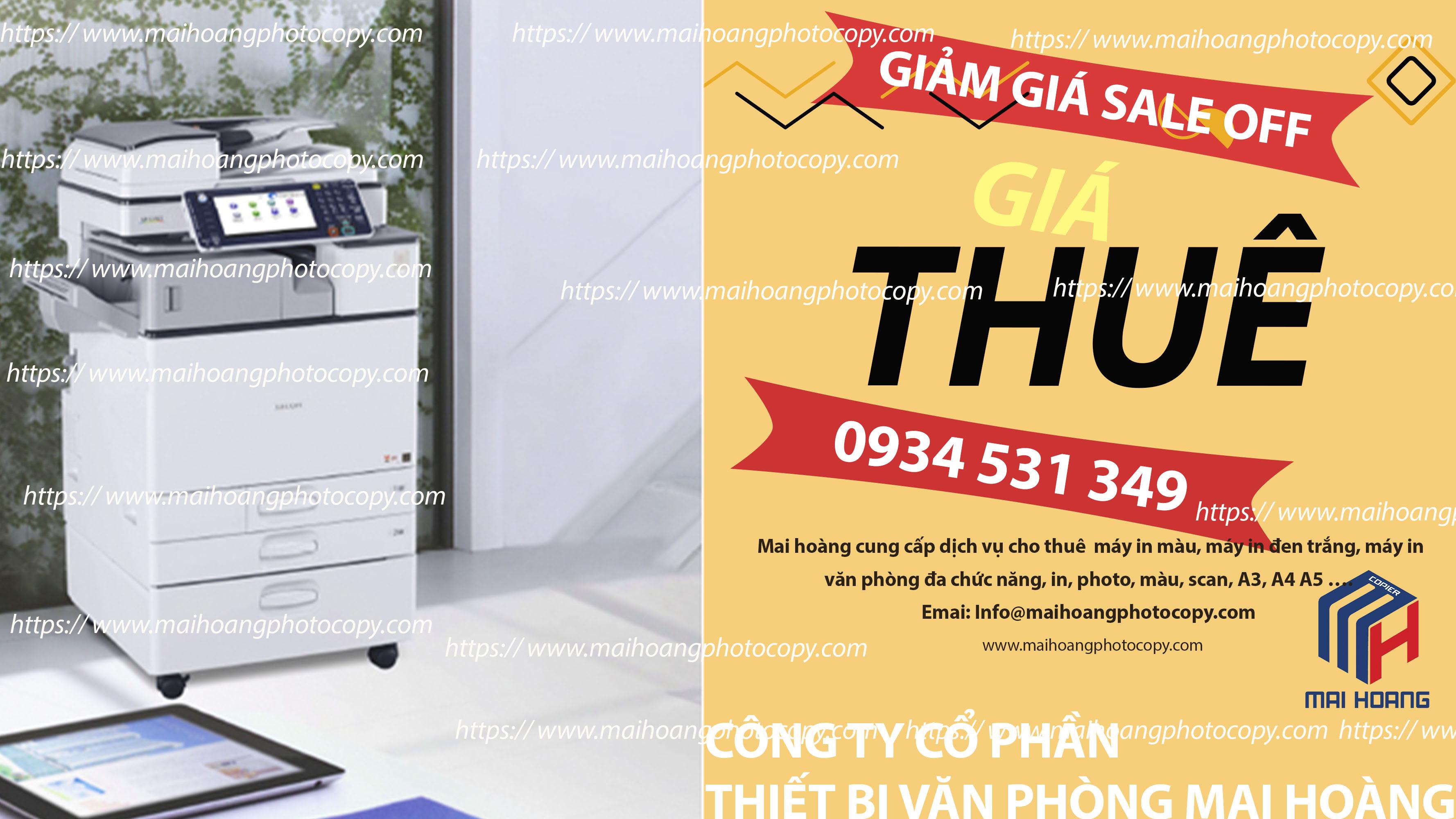 Cho Thuê Máy Photocopy Ricoh Aficio MP 6055SP