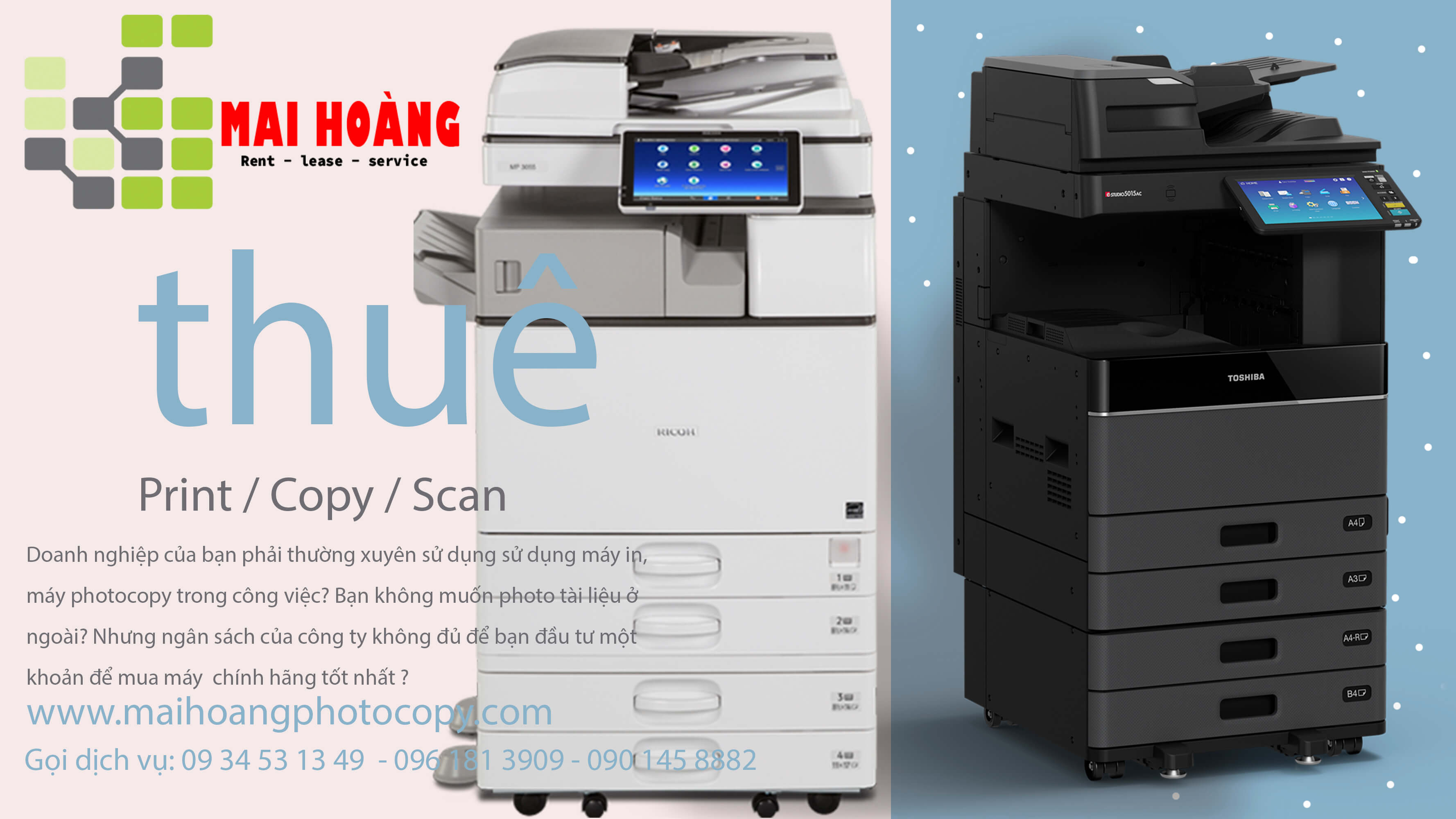 Cho ThuêMáy Photocopy Ricoh MP 3555SP