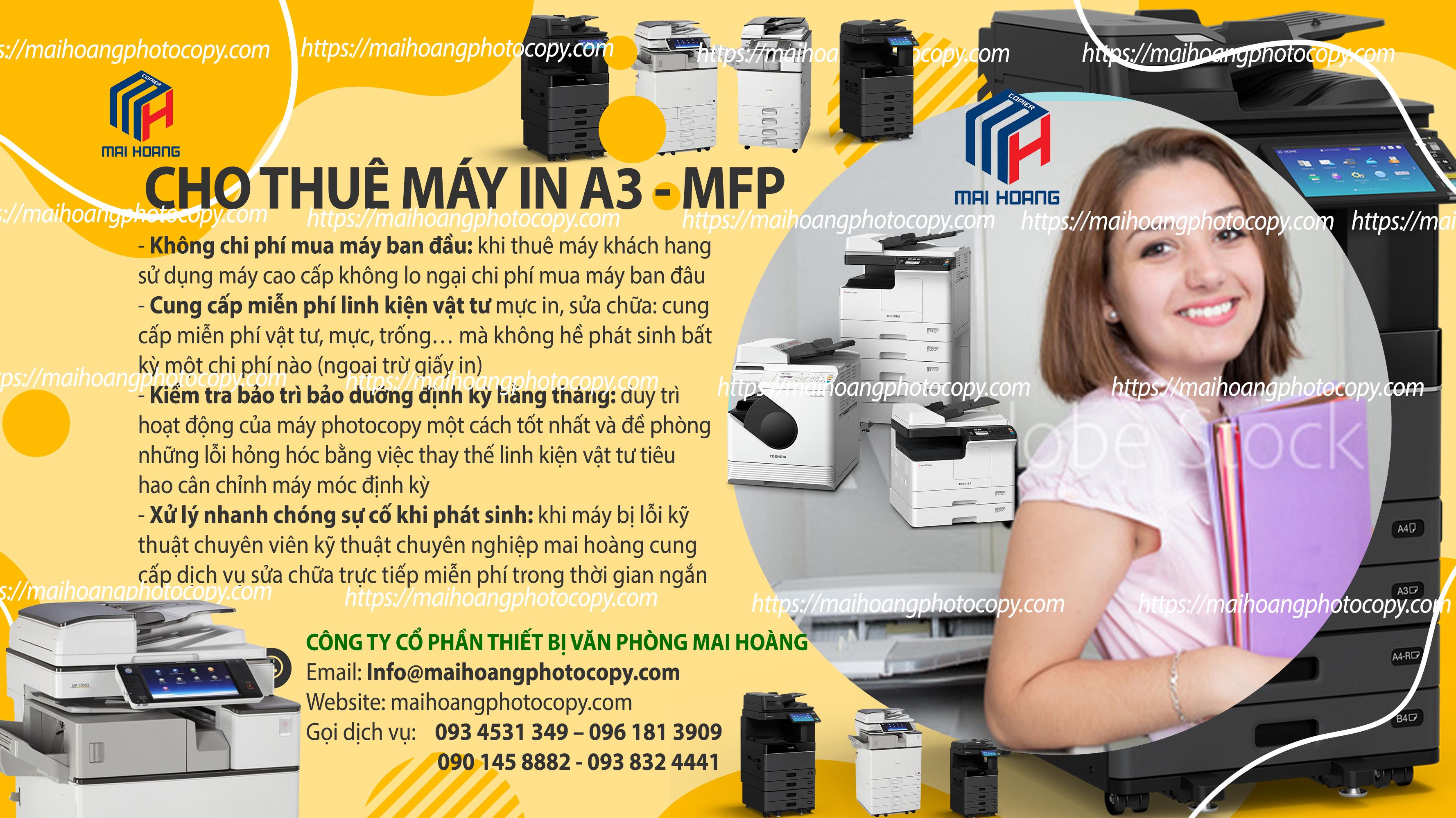 dịch vụ cho thuê máy in a3 đen trắng