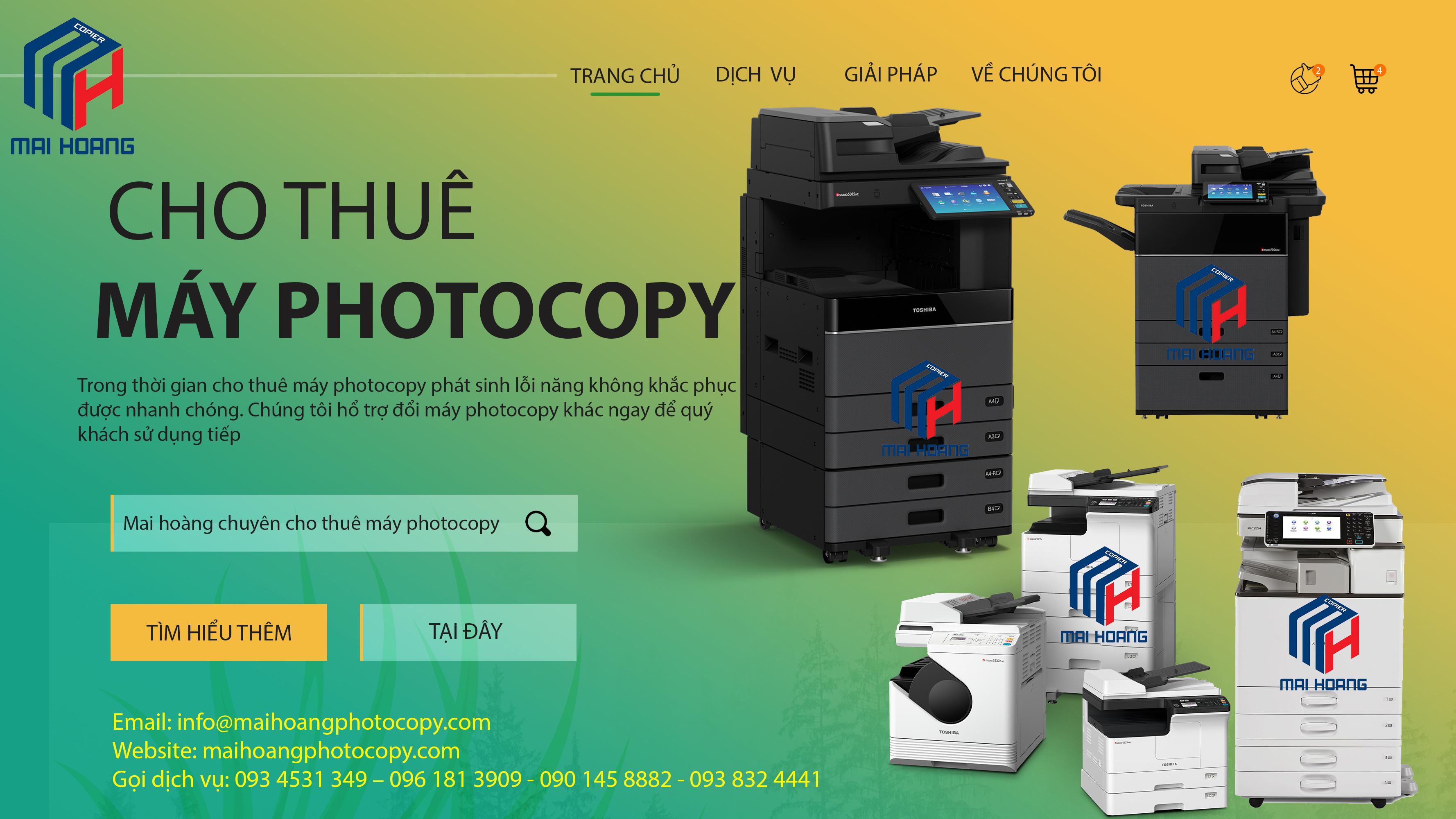 dịch vụ cho thuê máy photocopy tại long an
