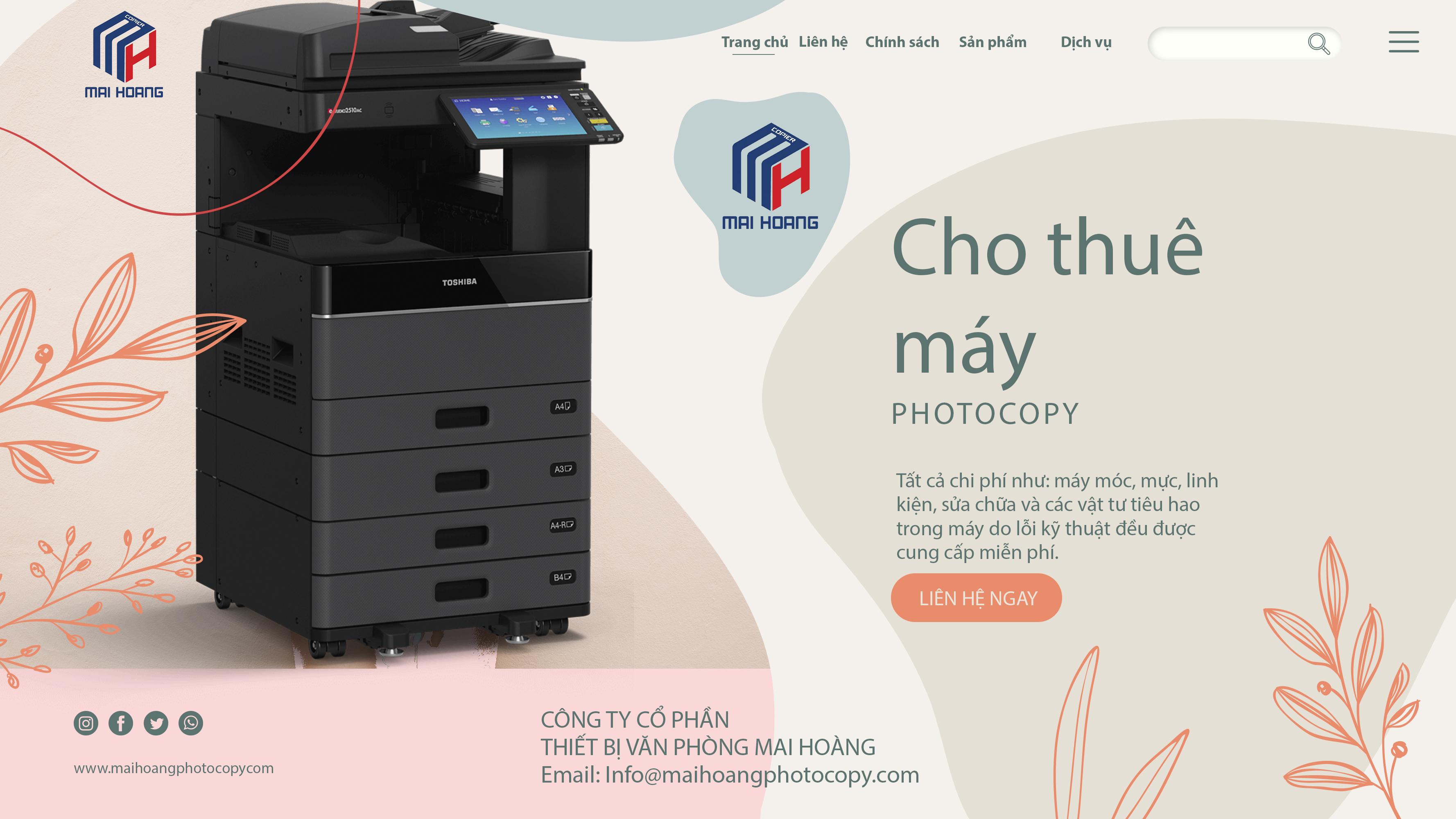 Cho thuê máy photocopy Toshiba E-STUDIO 2508A