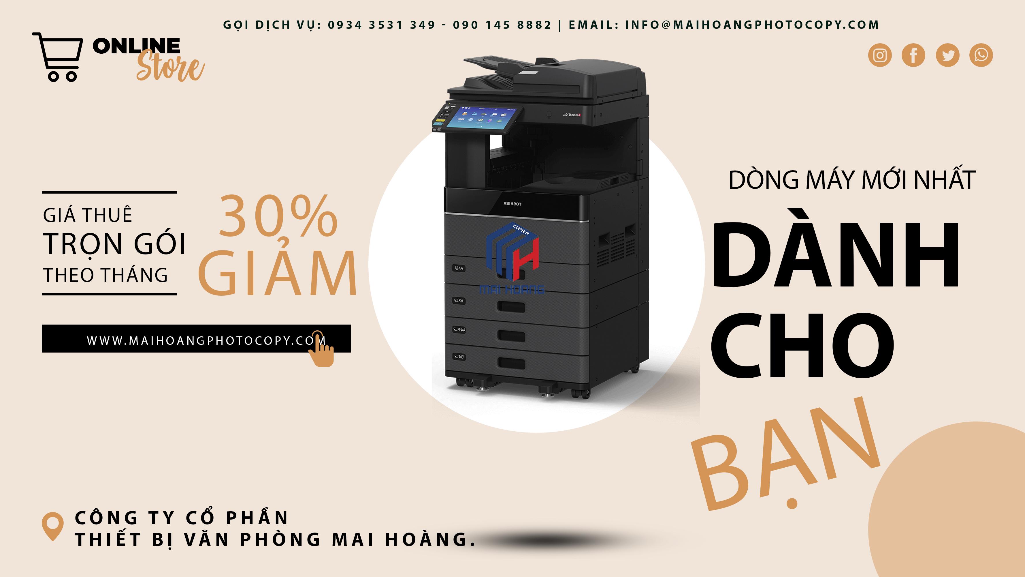 cho thuê máy photocopy Toshiba e-STUDIO 2008A