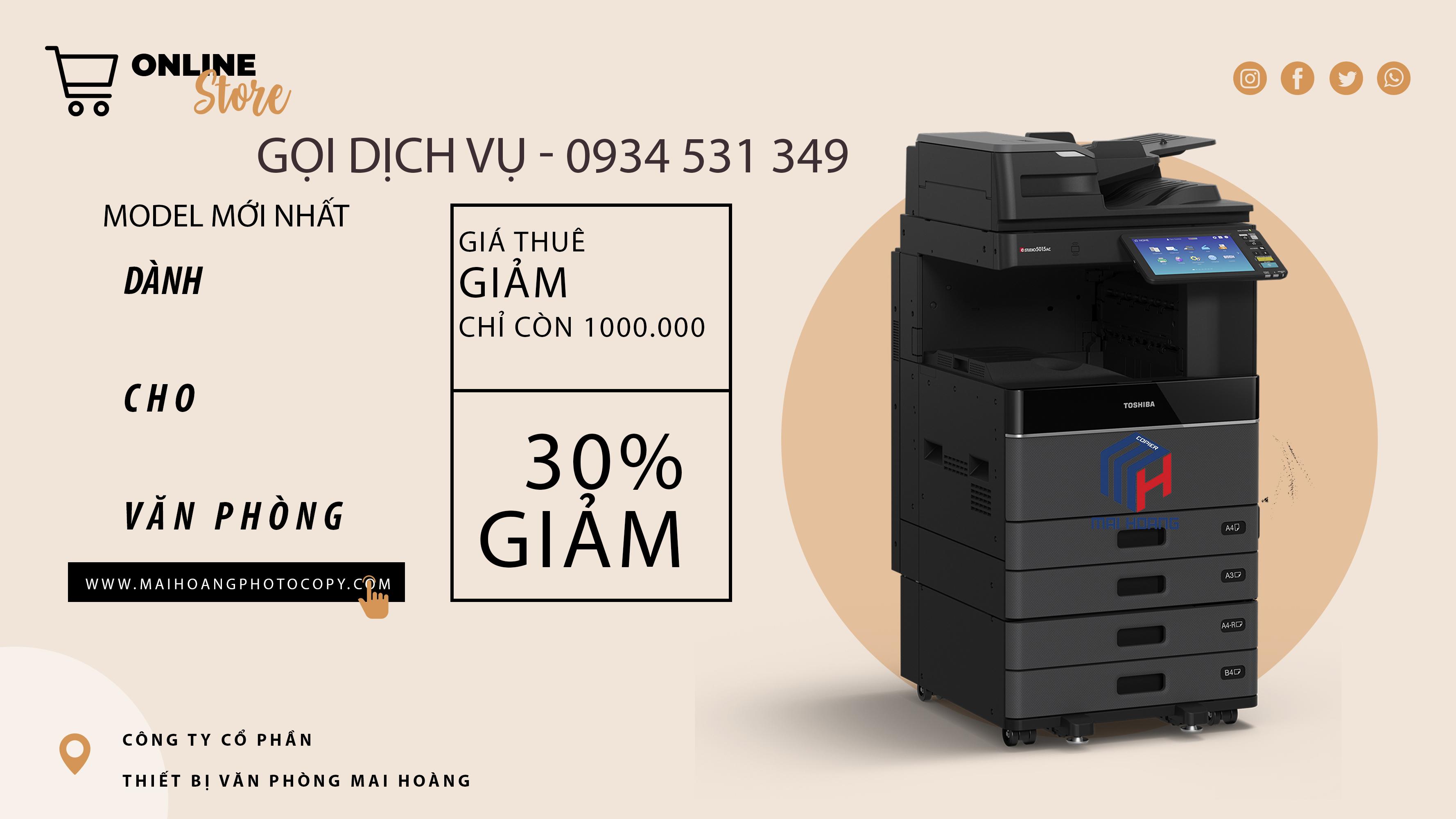 Cho thuê máy photocopy Toshiba E-STUDIO 3508A