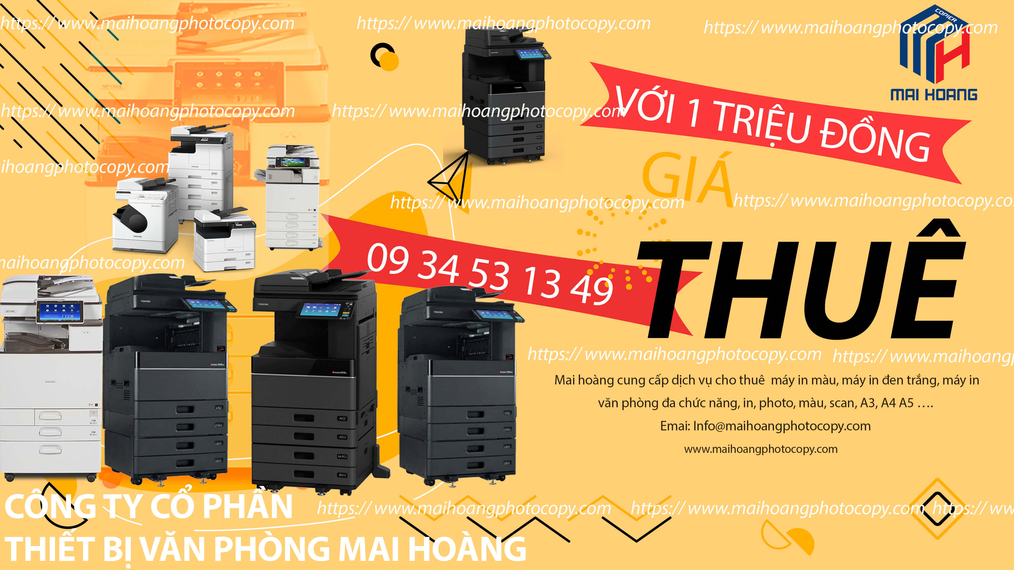 Cho Thuê Máy Photocopy Màu Toshiba e-STUDIO 5005AC