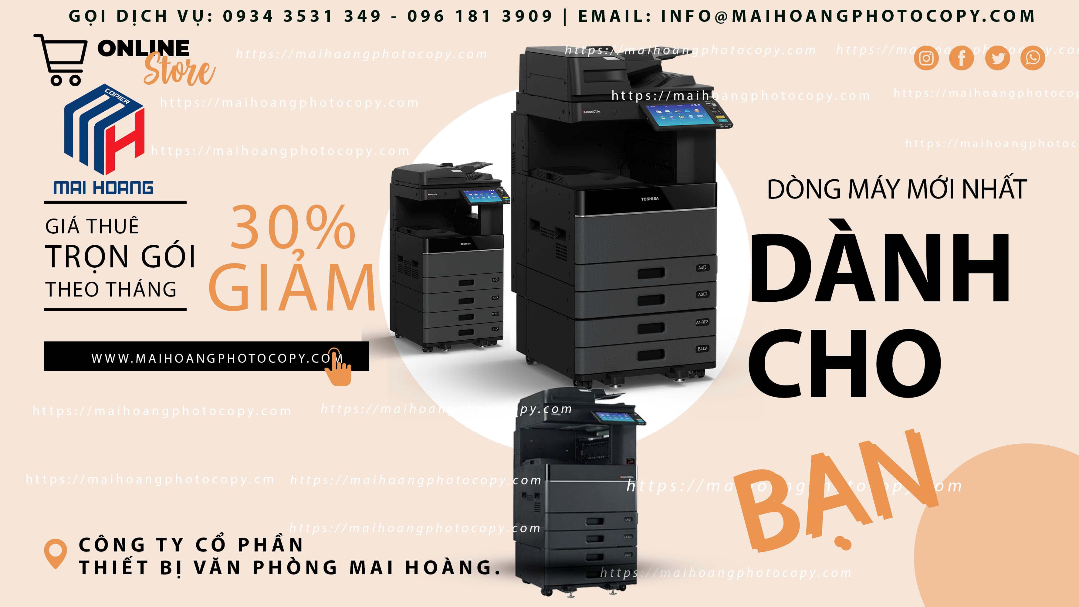 Cho ThuêMáy Photocopy Màu Toshiba e-STUDIO 5005AC