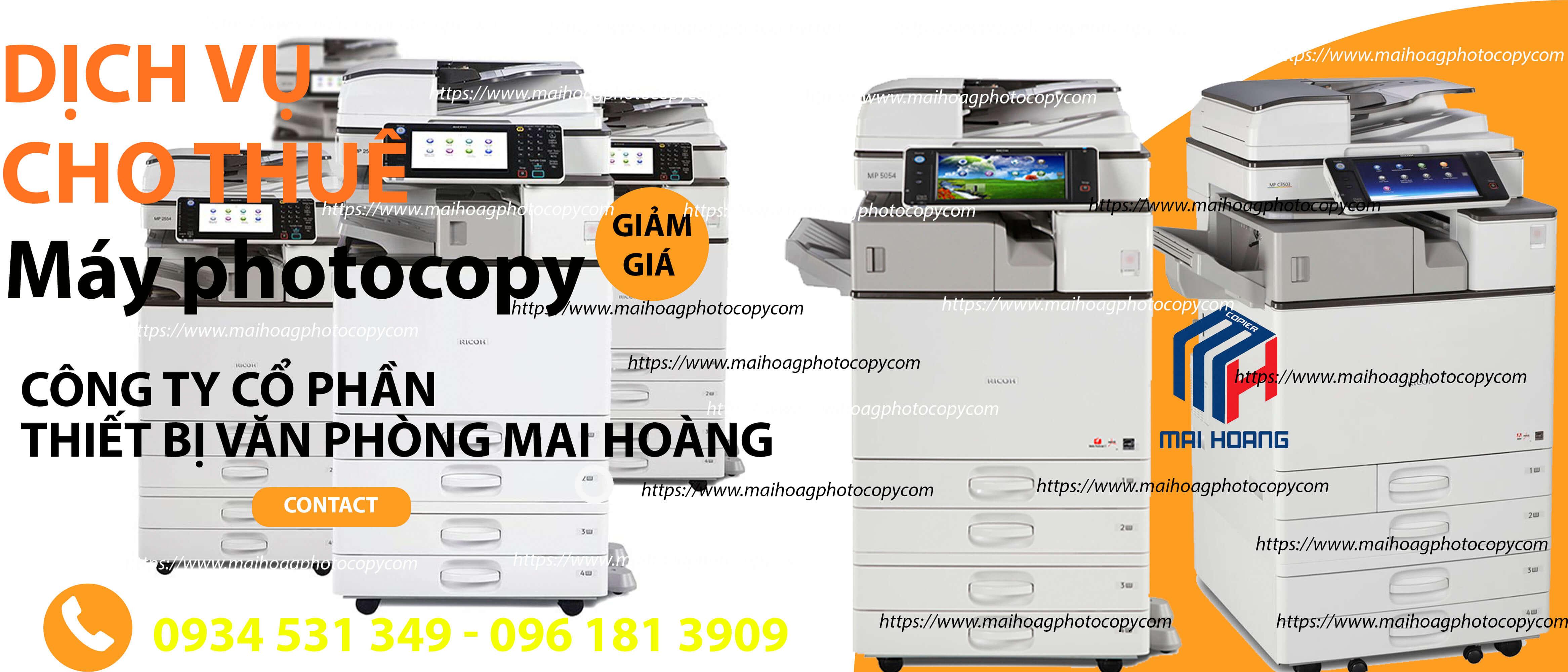 Cho Thuê Máy Photocopy Màu Ricoh MP C3003