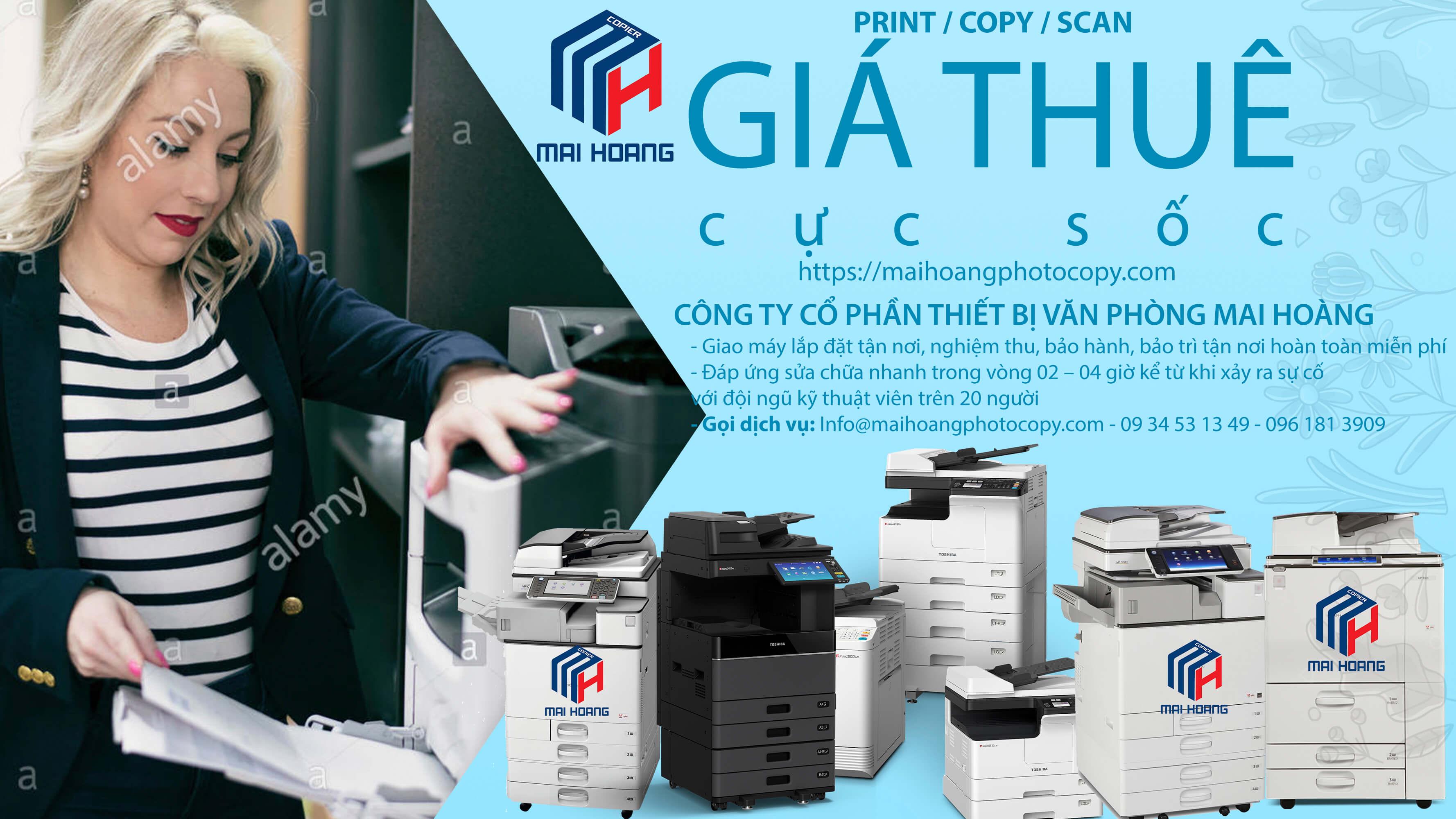Dịch Vụ Cho Thuê Máy Photocopy Laser Màu Đa Chức Năng Ricoh MP C3504ex