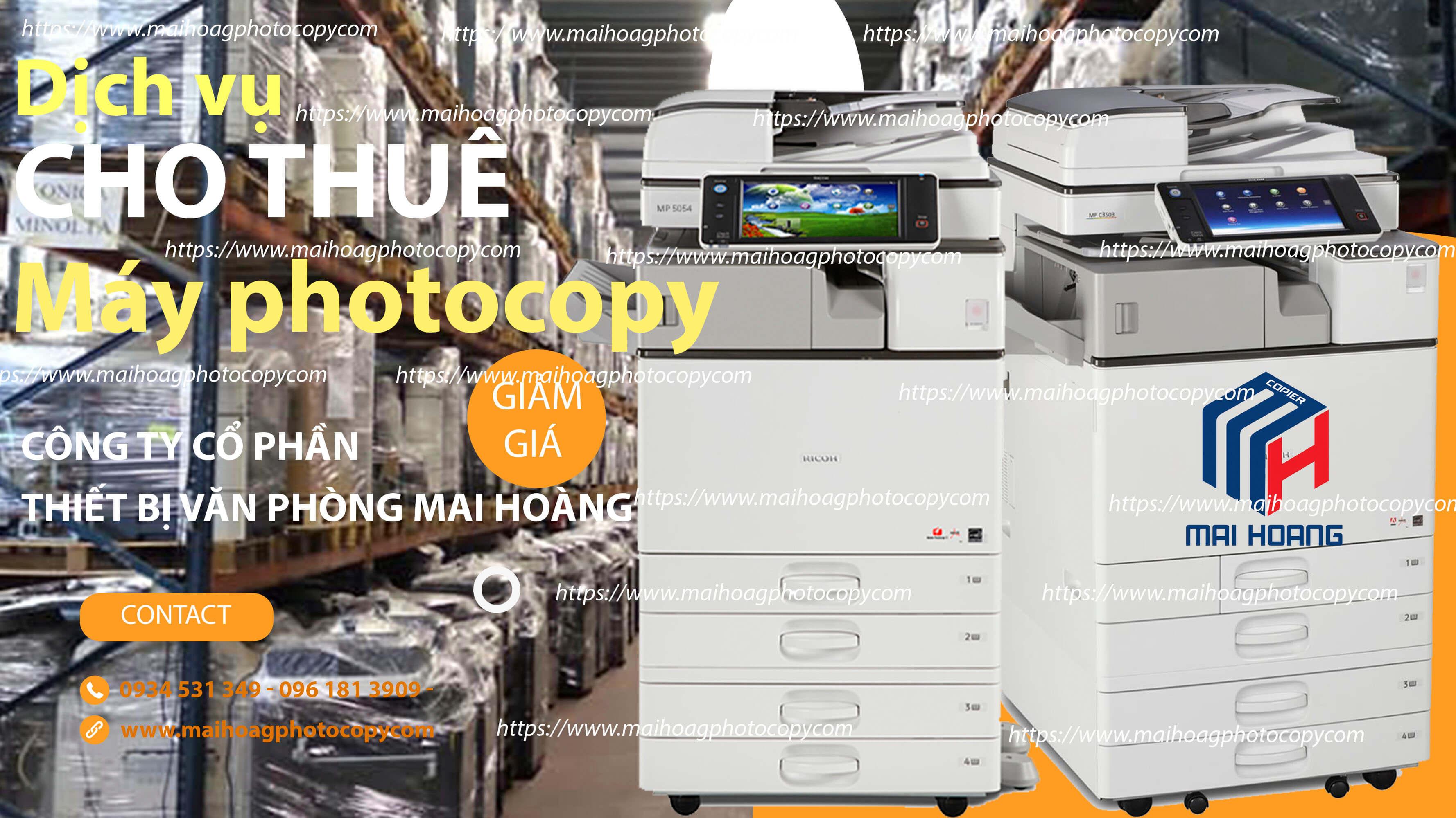 Giá Cho Thuê Máy Photocopy Màu Đa Chức Năng Ricoh Aficio MP C6503