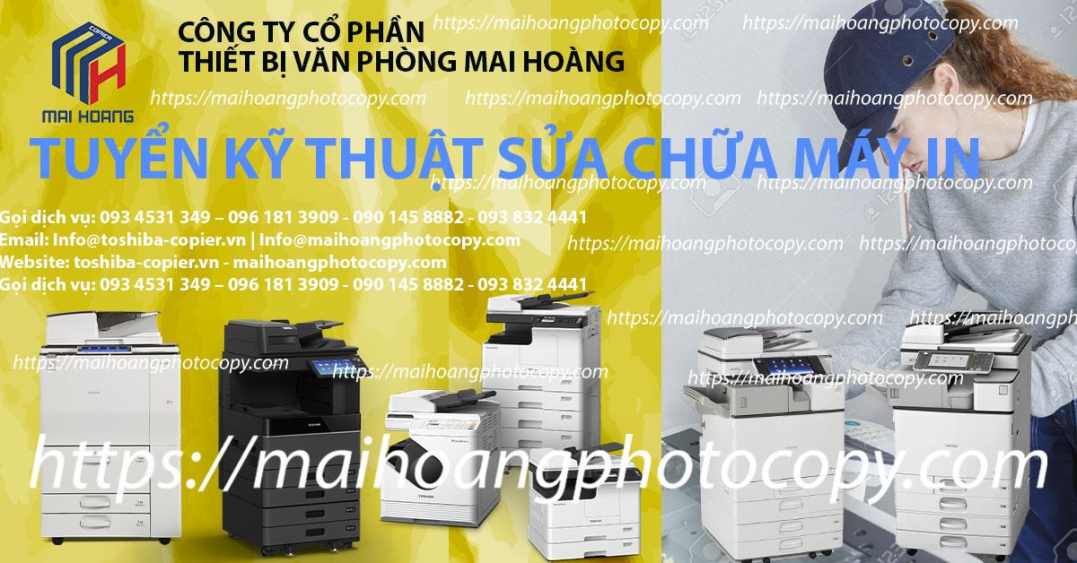 Tuyển Kỹ Thuật Viên Học Việc Sửa Chữa Máy In Lắp đặt, nâng cấp linh kiện. Thi công mạng, ,lắp đặt và cài đặt máy in, máy fax, máy photocopy. + Dịch vụ: Bảo hành - Bảo trì - Sửa chữa máy photocopy, máy in, fax , thiết bị văn phòng, thiết bị mạng…