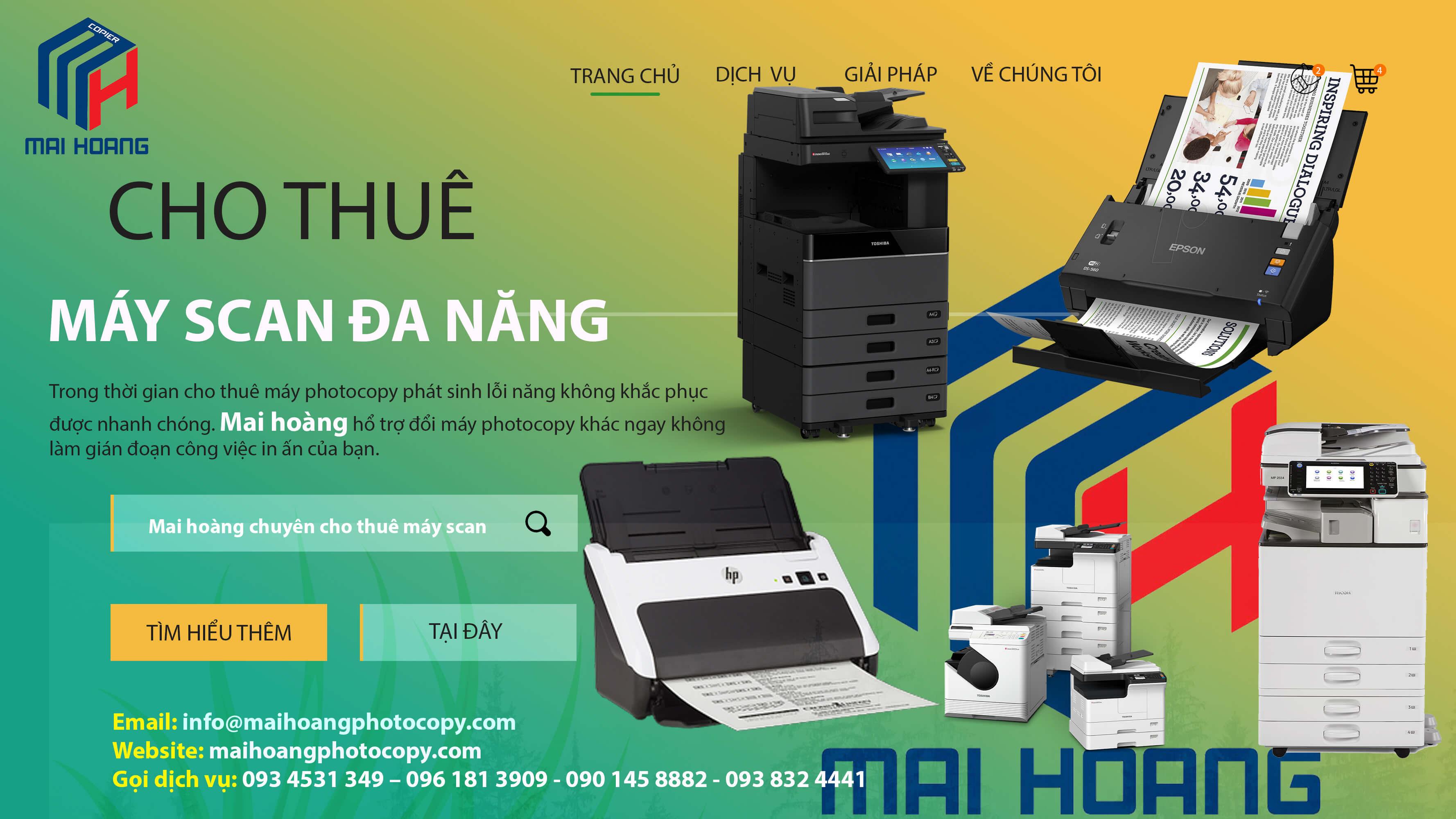 cho thuê máy scan