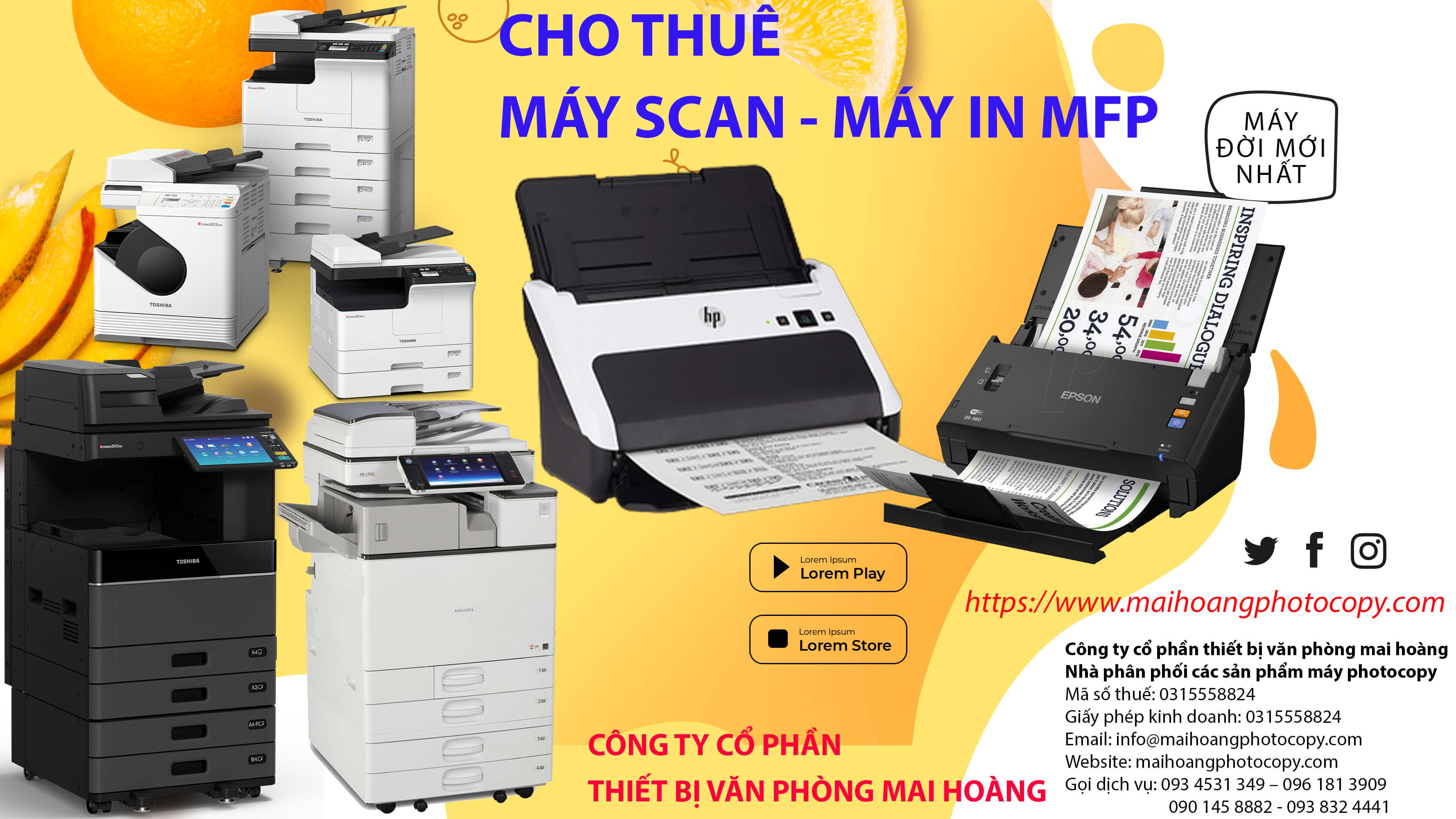 cho thuê máy scan tài liệu Có tất cả các dòng máy mà khách hàng cần thuê - Giúp khách hàng tiết kiệm chi phí đầu tư lớn vào việc mua thêm 1 chiếc máy scan mới - Giúp khách hàng tiết kiệm chi phí nhân lực quản lý máy - Quý khách không phải tốn chi phí sửa chữa, bảo trì, thay thế linh kiện hư hỏng, khi sử dụng, nếu không may xảy ra lỗ