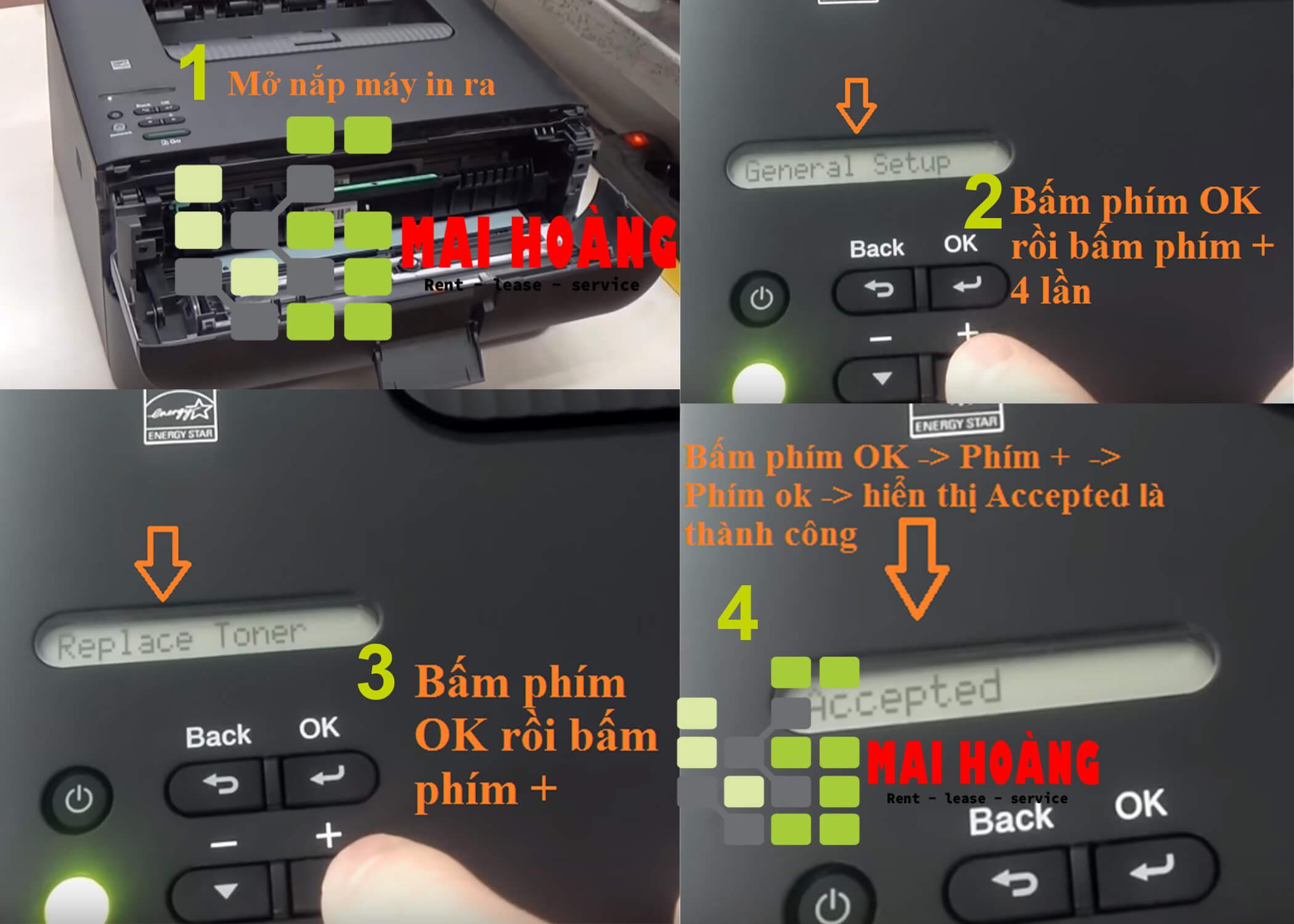 Hướng Dẫn Cách Reset mực Máy In Brother L2361DN, L2366DW