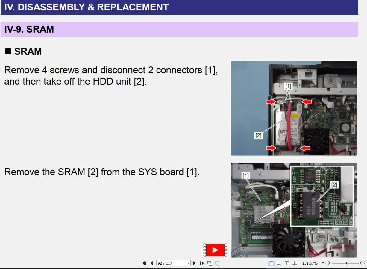 Hướng dẫn dịch vụ Frimware Toshiba E-Studio 2008A/ 2508A/ 3008A/ 3508A/4508A/5008A