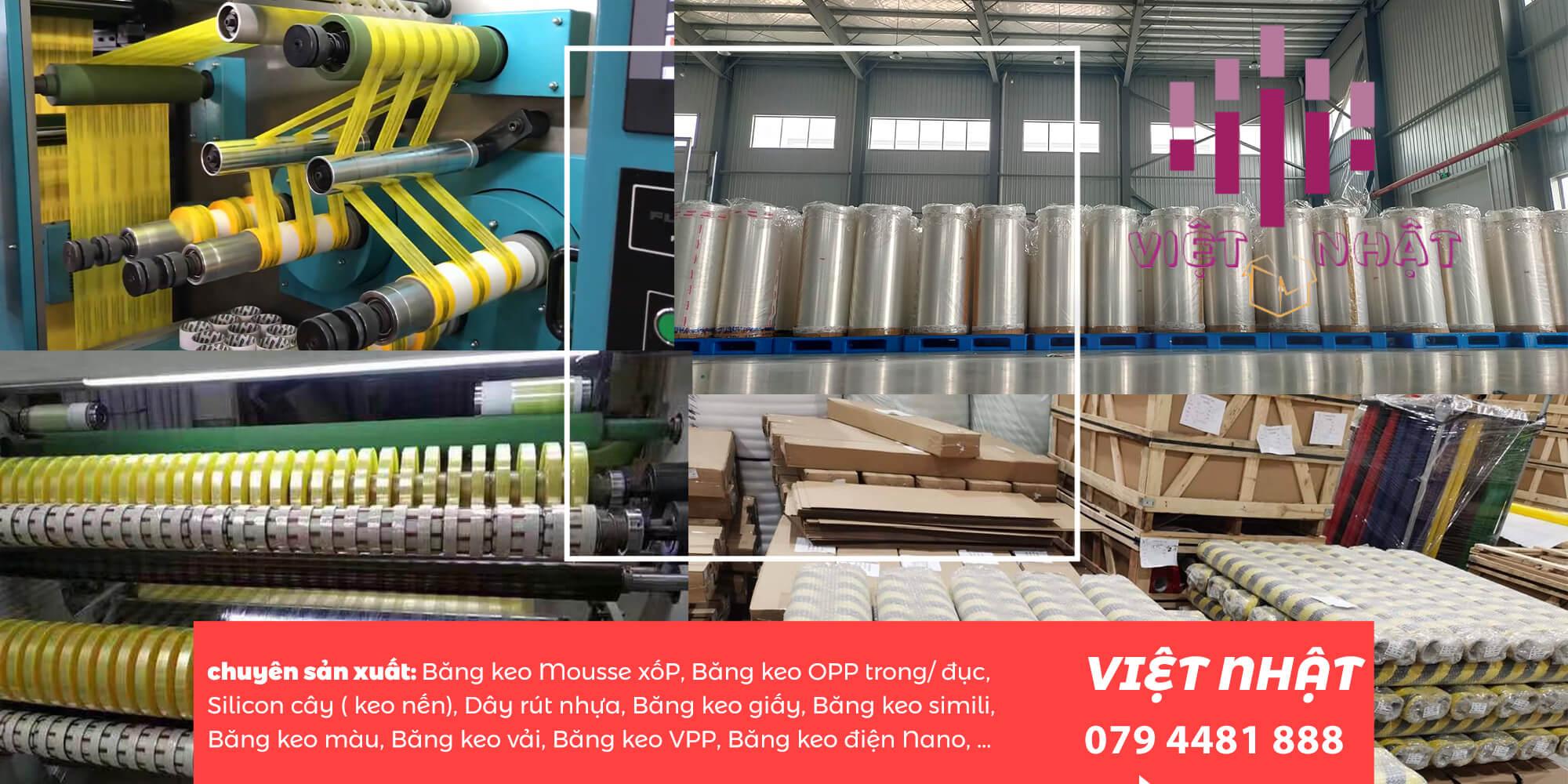Công ty băng keo việt nhật được thành lập từ năm 2010 với sứ mệnh nhập khẩu, sản xuất và phân phối băng keo, thiết bị máy móc sản xuất băng keo